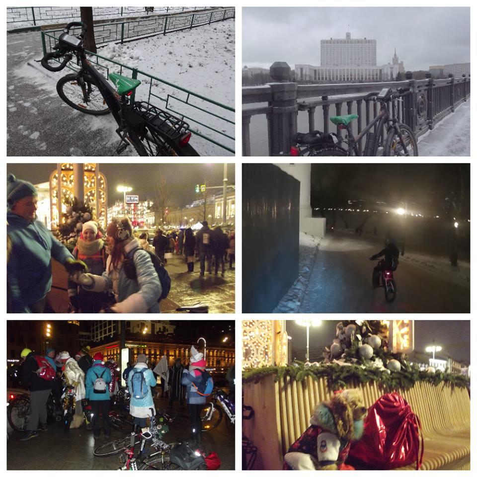 один мой зимний велодень в городе Москва